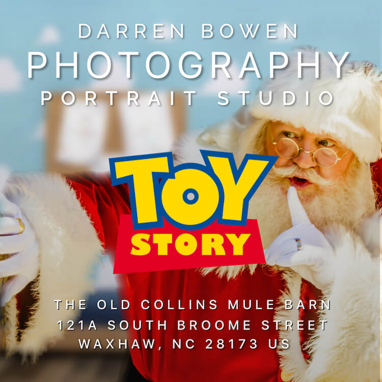 Toy Story featuring Santa Claus Portraiture by Darren Bowen Photography